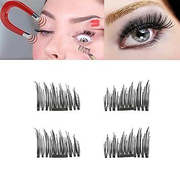 9c237667a0e Amazon.com : 3D Magnet False Eyelashes, Muxika NEW Ultra-thin 0.4mm Magnetic  Eye Lashes 3D Mink Reusable False Magnet Eyelashes Extension (0.05mm-A) :  ...
