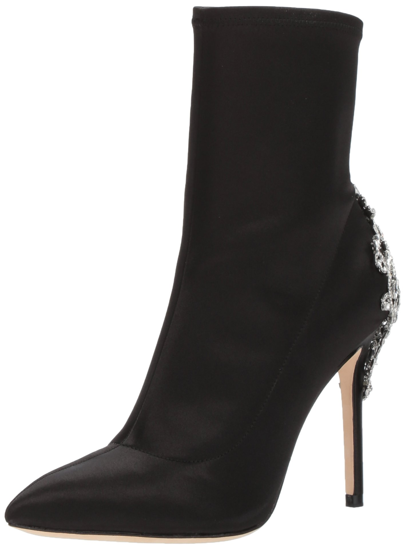 Badgley Mischka Women's Meg Ankle Boot, Black, 9 M US