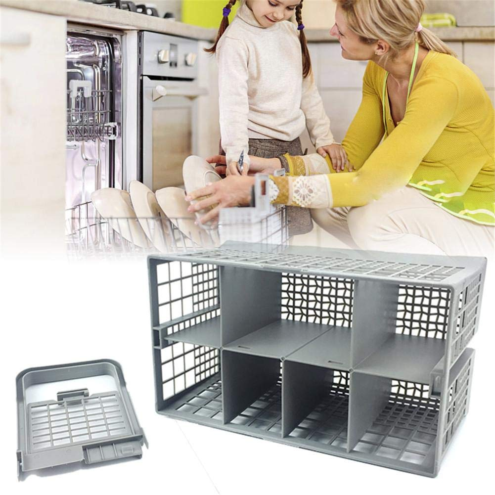 haptern Universal Dishwasher Silverware Cutlery Basket for Kenmore Whirlpool Bosch Maytag KitchenAid Maytag Samsung GE and More//9.45 x 5.5x 4.7 Nice-Looking