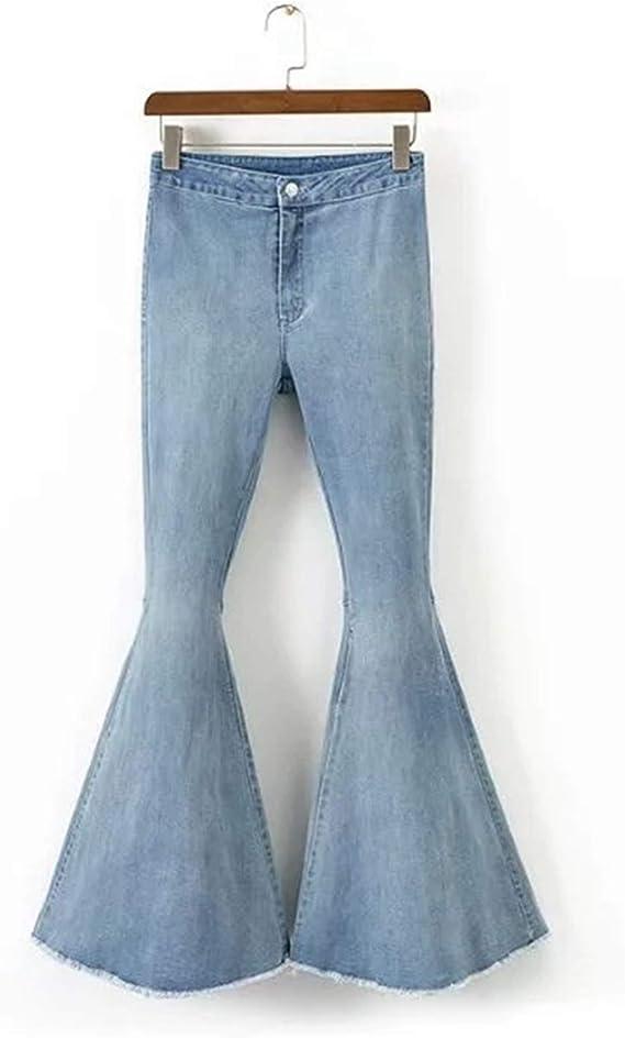 Woodrow Nora Pantalon Largo De Cintura Media Suave Lavado Ligero Pantalones Normales Jeans Para Mujer Azul Claro L Amazon Com Mx Ropa Zapatos Y Accesorios