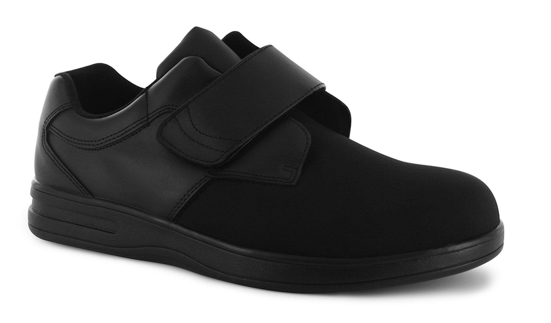 P W Minor Freedom Men's Therapeutic Extra Depth Shoe: Black 14 XX-Wide (5E) Velcro