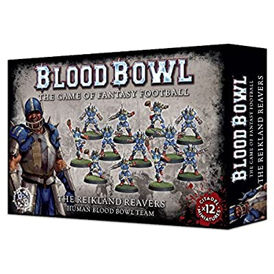 Games Workshop Blood Bowl Fantasy Football The Reikland Reavers - Human Team (12 Miniatures): Toys & Games