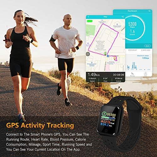 WAFA Fitness Tracker with Heart Rate Blood Pressure Monitor, Waterproof Fitness Watch, Bluetooth Smart Watch with Sleep Sports Data Monitor GPS Activity Tracker Pedometer Watch for Kids Women Men 3
