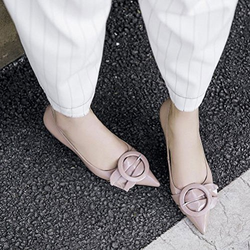 Pointue Basses Avec Robe Pink Bouche Lady Mode Peu Profonde Fine Talons des DKFJKI Hauts Sauvage Chaussures Pqx4wYaCx6