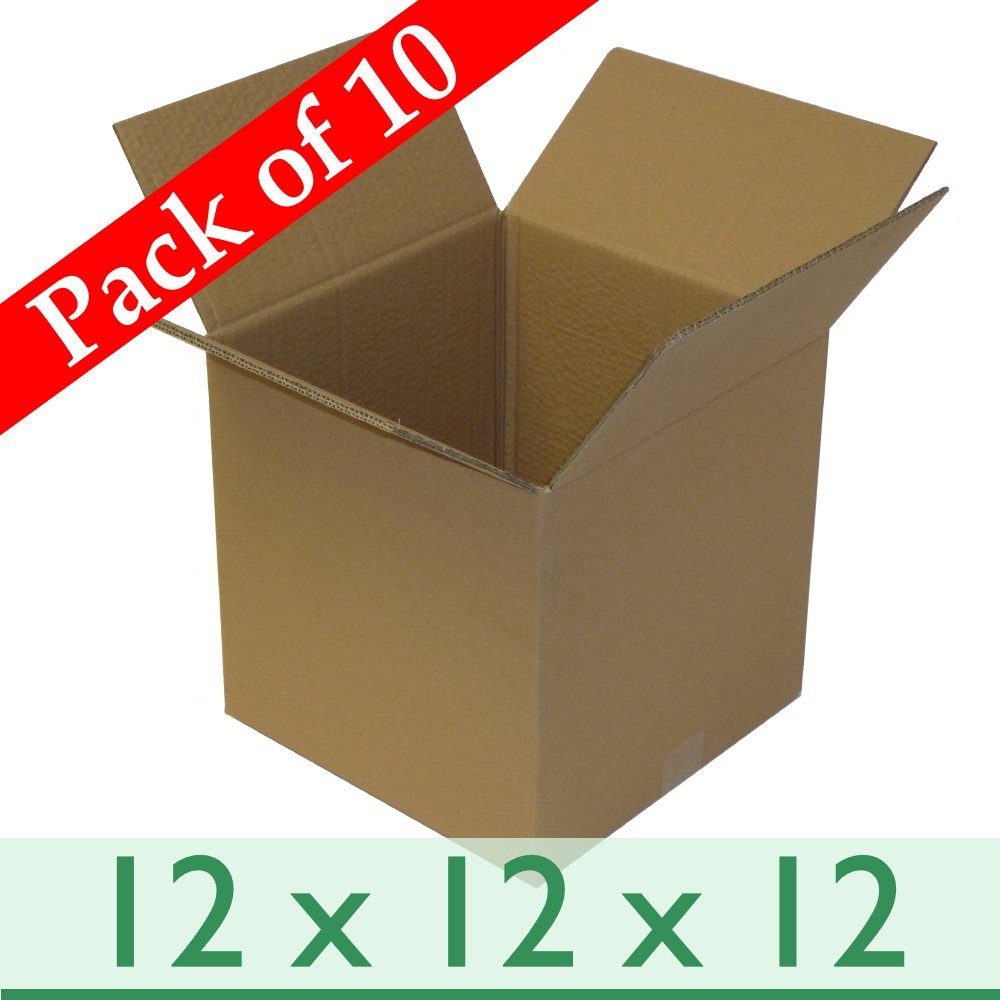 10 x Strong Cubed Postal Gift Mailing Cartons - Double Wall Cardboard Boxes- 12