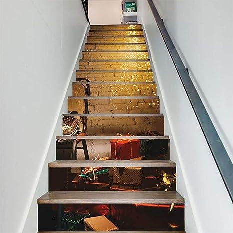 FWSY DIY Paisaje 3D13 Piezas Auto-Adhesivos Pegatinas de Escalera, Pared Pintura Vinilo Escalera calcomanía Decoración 39 Pulgadas x7 Pulgadas: Amazon.es: Deportes y aire libre