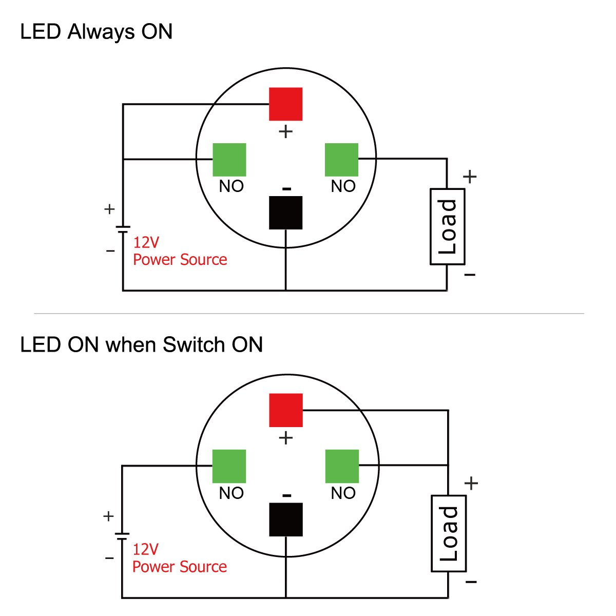 Taien Latching Push Button Switch 19mm 3 4 1no 1nc 12v Selflock Square Led Light Momentary Silver Stainless Steel Shell With Red Automotive