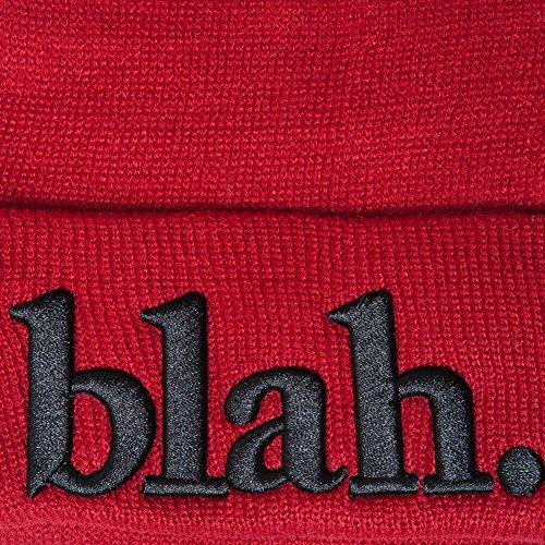 Accessoryo Sombrero 'blah' Beanie bordado Unisex Rojo rr7H8gqw