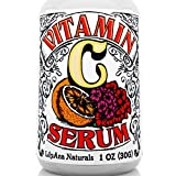 vitamin c serum and skin Vitamin C Serum with Hyaluronic Acid for Face and Eyes - Organic Skin Care with Natural Ingredients for Acne, Anti Wrinkle, Anti Aging, Fades Age Spots and Sun Damage - 1 OZ