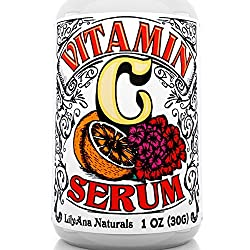 Vitamin C Serum With Hyaluronic Acid For Face & Eyes - Organic Skin Care With Natural Ingredients For Acne, Anti Wrinkle, Anti Aging, Fades Age Spots & Sun Damage - 1 Oz