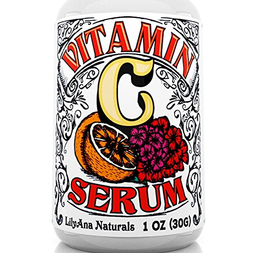 Vitamin C Serum with Hyaluronic Acid for Face and Eyes - Organic Skin Care with Natural Ingredients for Acne, Anti Wrinkle, Anti Aging, Fades Age Spots and Sun Damage - 1 OZ (Best All Natural Beauty Products)