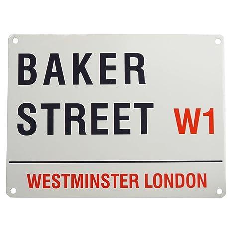 Amazon.com: Baker Street W1 de Londres señal – Pequeño Acero ...