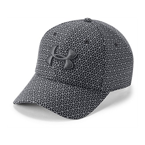 (Under Armour Men's Printed Blitzing 3.0 Stretch Fit Cap, Charcoal (019)/Graphite, Medium/Large)