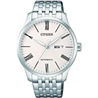 CITIZEN Mens Mechanical Watch, Analog Display and Stainless Steel Strap - NH8350-59A