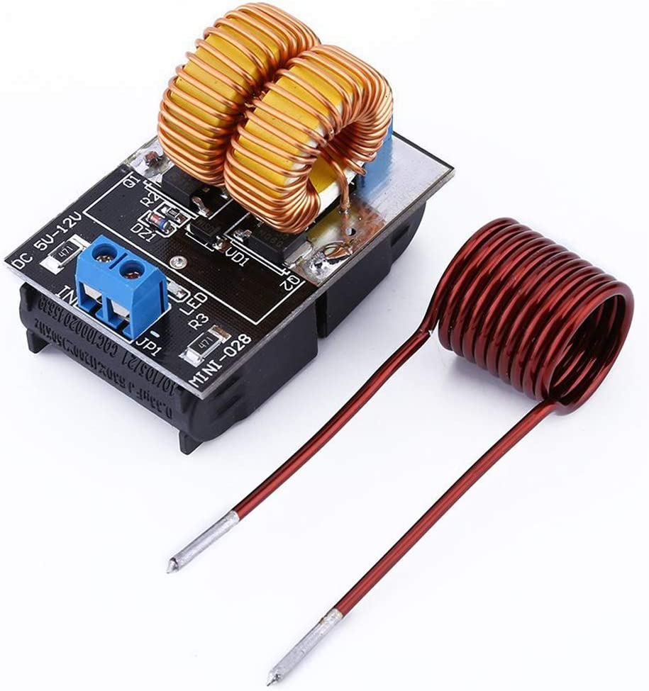 ZVS Driver Module,5V-12V ZVS Low Voltage Induction Heating Power Supply Board+Heating Coil