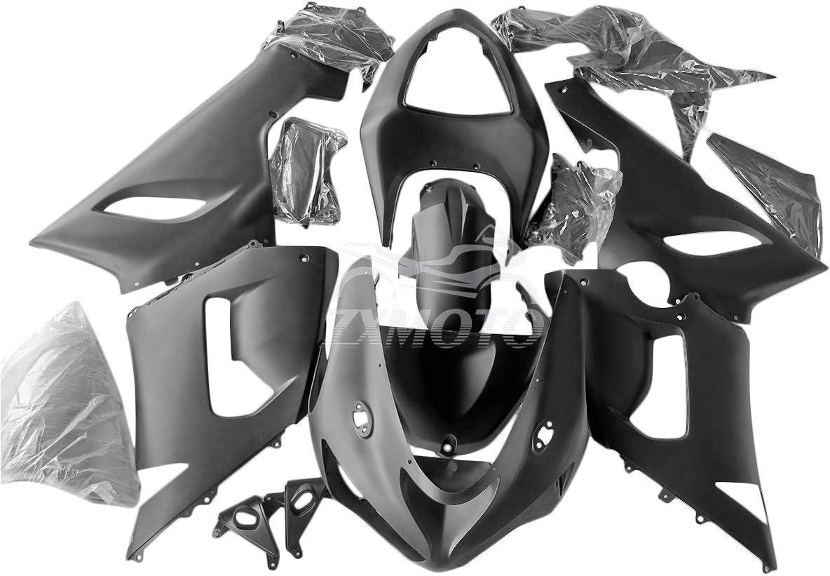ZXMOTO Matte Black ABS Plastic Motorcycle Bodywork Fairing Kit for Kawasaki ZX6R 636 2005-2006 Pieces//kit: 21