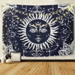 BLEUM CADE Starry Wall Galaxy Tapestry, Home 3D Forest Tapestry Forest Sky Tapestry, Living Room Bedroom Decoration Tapestry, Mattress, Tablecloth