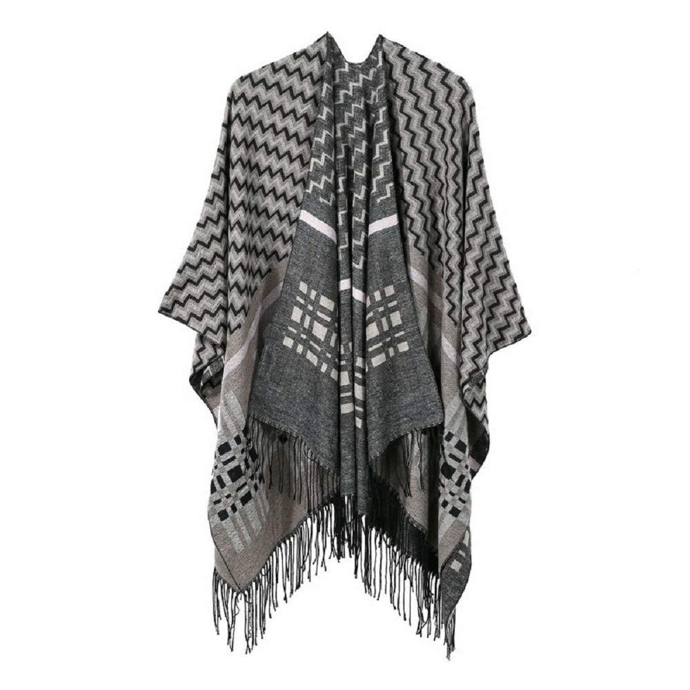Excellent Women's Fall Winter Scarf Cloak Tassel Cape Mantle Scarf Strong Sonant Kerchief Wrap Shawl Scarves (Color : White, Size : 51.1 x 59.06 Inch') by Excellent