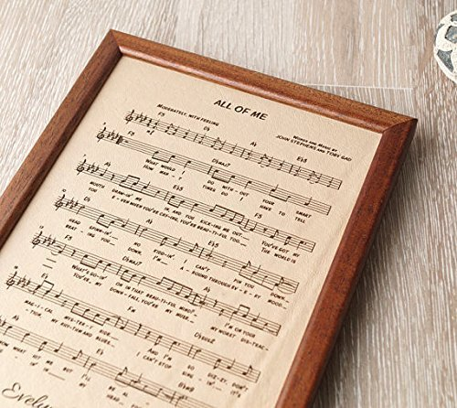 Leather engraving, music notes sheet engraved on real leather, 3rd wedding anniversary gift, leather picture, custom - Class First Mail Number For Tracking