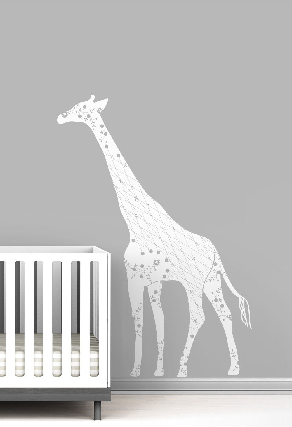 Cornet Giraffe Baby Nursery Wall Decal by LittleLion Studio