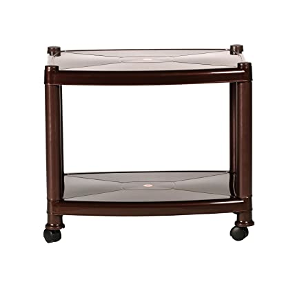 Cello Orchid Center Trolley Table (Matte Brown)
