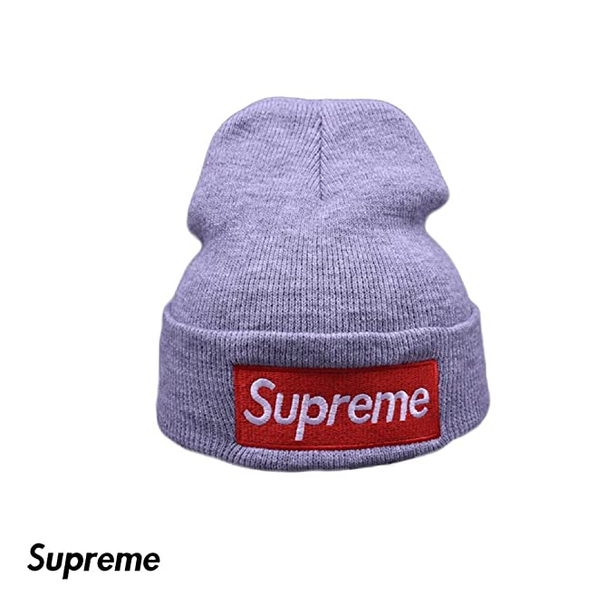 5fe6e42d743 Supreme Hat Toque - Soft Lined Thick Knit Skull Cap - Winter (Unisex) (Gray)   Amazon.ca  Clothing   Accessories