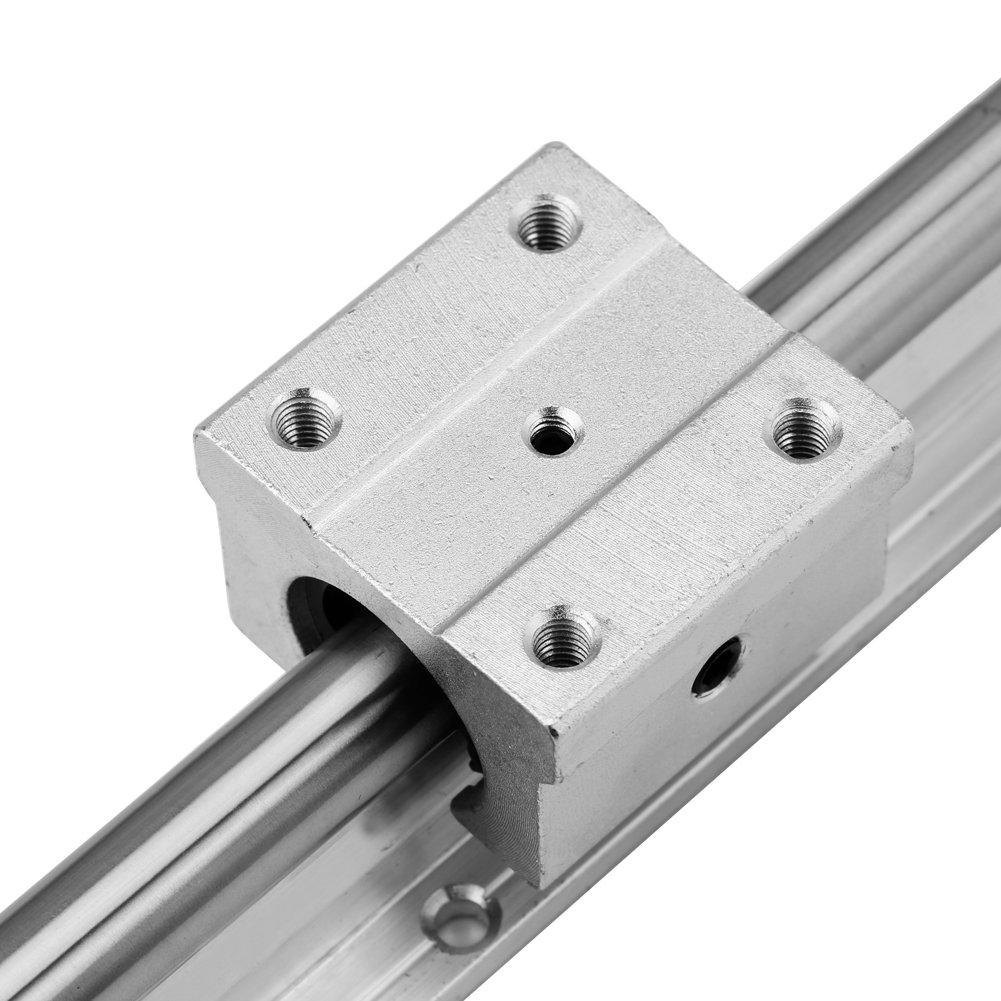 Linearlager Linearf/ührungsschiene 300 mm plus 4-tlg Linearschienen und Lager 12-mm-Gleitbl/öcke SBR12UU 2-tlg