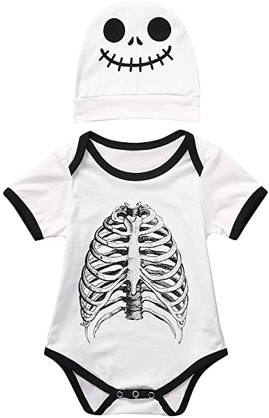 FELZ Bebe Niño Niña Halloween Disfraz Esqueleto Peleles de Manga ...
