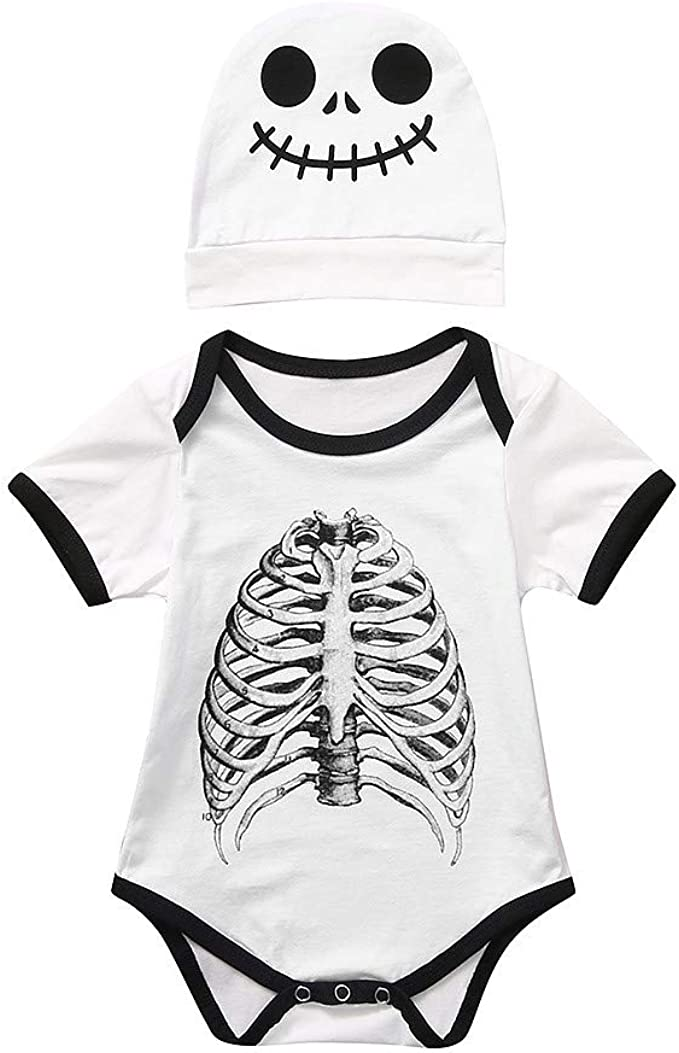 Divertido Pijama, K-Youth Disfraz Halloween Esqueleto Body Bebe ...