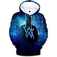 XUJIN Alan Walker Periphery Starry Sky 3D Color Print Hoodie/Adult Children's Hooded Sweater/Warm Plus Velvet Sportswear