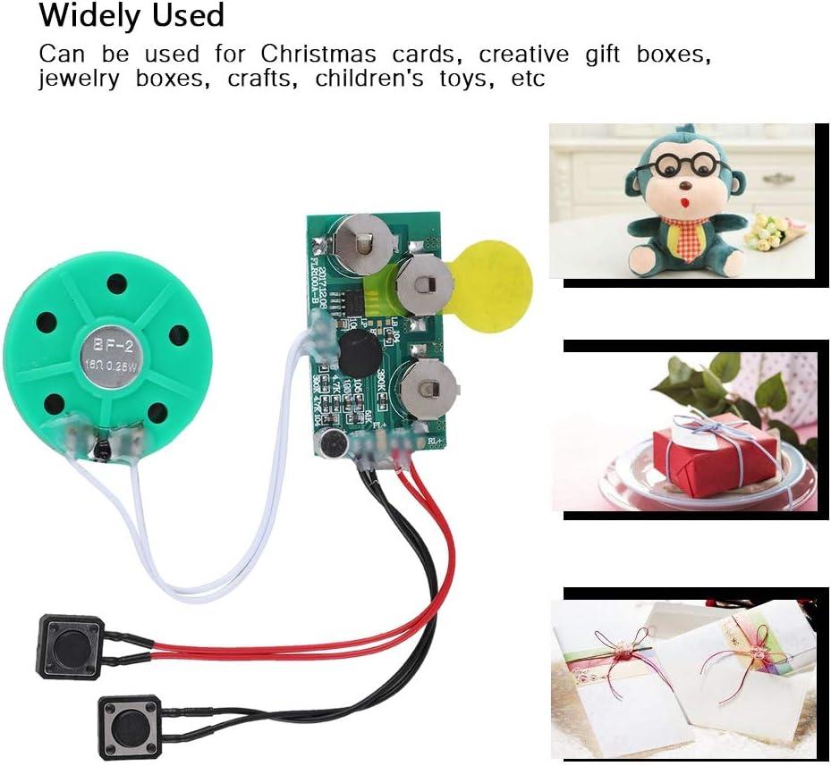 Kinderspielz Kunsthandwerk Urlaub kreative Geschenkboxen Schmuckschatullen 4 Minuten DIY Gru/ßkarte Chip Musik Sound Voice Recording Modul Device Chip Beschreibbarer Sound Chip f/ür Weihnachtskarten