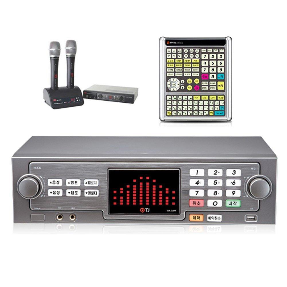 TJ Taijin Media TKR-365HK Home Party Korea Korean Karaoke Singing Machine 500GB HDD System + 2 Wireless Microphones + Professional Remote (TIR-304K) Set /Follow-up TKR-304K