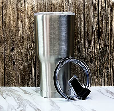 Tumbler Lid for 20 Oz Yeti, Rtic Rambler and 10 oz Lowball Tumblers - Leak, Splash Proof Proof and Straw Friendly (Lid Only)