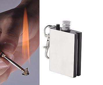 etu24 ewige Cerillas Outdoor Survival Cerillas Mechero permanente hemostáticas Magnesio Encendedor de Fuego Pedernal piedra Flint Firestone Cigarrillos De ...