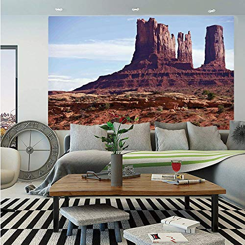SoSung Americana Landscape Decor Huge Photo Wall Mural,Famous Monument Valley Grand Canyon Red Rocky Cliffs USA Arizona Print,Self-Adhesive Large Wallpaper for Home Decor 100x144 - Grand Canyon Stone