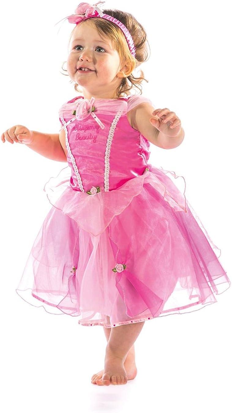 PRINCESS PINK FANCY DRESS COSTUME CHILDS GIRLS FAIRYTALE DRESS ONLY
