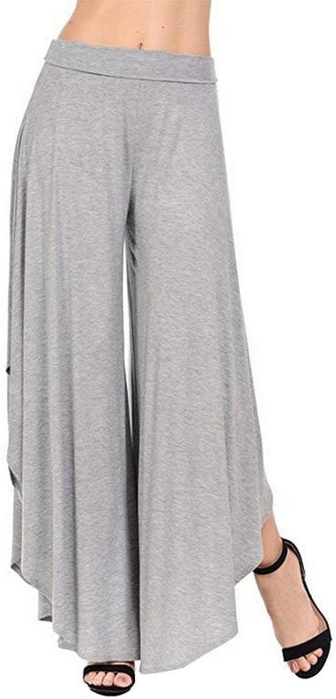 BOLAWOO Pantalon Mujer Pantalones Anchos Pantalones Verano ...