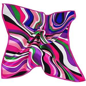 ionlyou® 100% Silk Square Scarves Women's Neck Scarf Handkerchief Muffler (Pink)