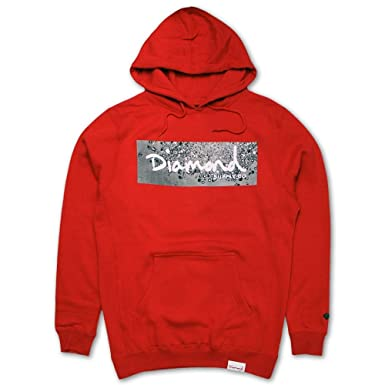 ddeeb3149dc4 Amazon.com  Diamond Supply Co Scatter Box Logo Hoodie Red  Clothing
