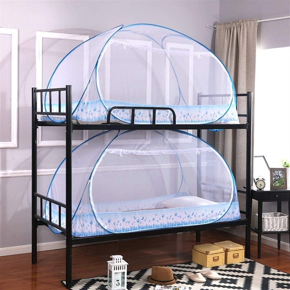 Color : Blue, Size : 1.0 * 2M VIVIANE Alojamiento De Estudiantes Yurta Mosquitera Instalaci/ón Gratuita Cifrado 0.9m1.2 Cama Infantil Litera 1.5 Cama Doble Casa