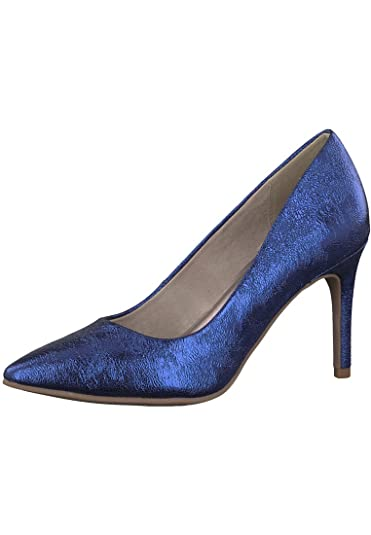 Tamaris 1 22427 20 850 Damen Royal Crack Blau Pumps mit