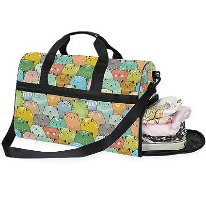 Bolsa de Deporte con Compartimento para Zapatos, Bolsa de ...