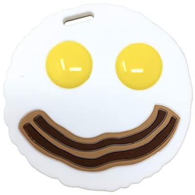 Baby Teething Toy Egg and Bacon Silicone Baby Teether- Breakfast Infant Molar Teether : Baby
