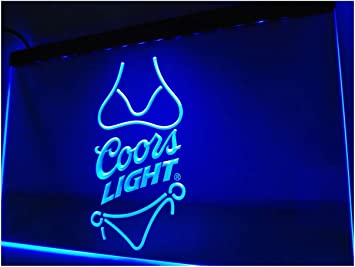 Amazon.com: Coors Light Beer Bikini Bar Pub LED Neon Sign ...