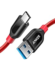 Anker PowerLine+ USB-C to USB 3.0 cable (3ft/0.9m), High Durability, for USB Type-C Devices, for Samsung Galaxy S10, S9, S8, S8+, MacBook, iPad Pro 2018, Sony XZ, LG V20 G5 G6, HTC 10, Xiaomi 5 & More