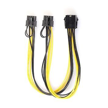 Cable de Adaptador de alimentación SATA Profesional de 8 Pines a ...