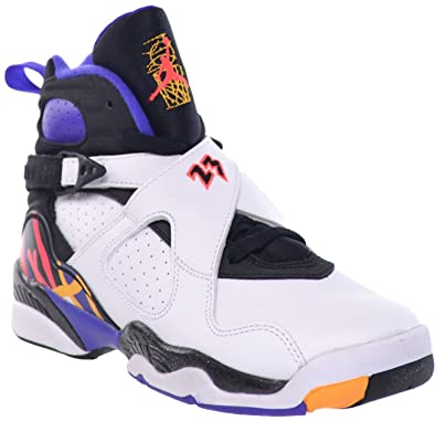 save off 3f375 c764b ... denmark nike boys air jordan 8 retro bg 3 peat white infrared 23 black  leather 39918