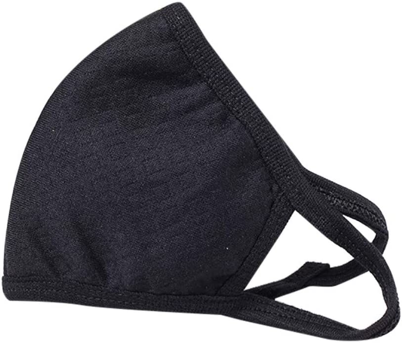 1PCS Face Bandana Reusable Washable Cloth Protection Cover Dust Elastic String Cycling Motorcycle Cotton Black Half Balaclava Fashion Fabric Breathable Rewashable Re-Useable Scarf