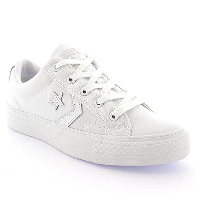 Converse Star Ox Femme Baskets Mode Blanc jq6i5Oy7