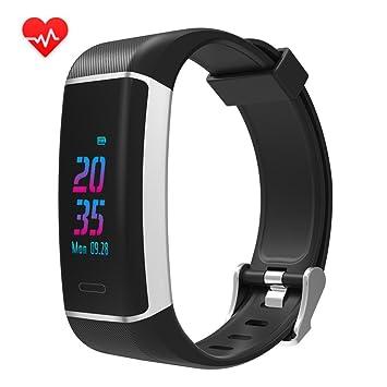 Montre Connectée,Hangrui Bracelet Connecté Fitness Tracker dActivité Montre Cardio Sport avec Cardiofréquencemètre